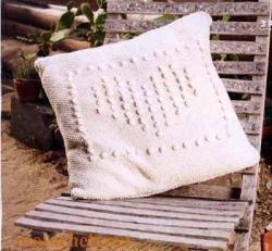 вязание спицами подушек