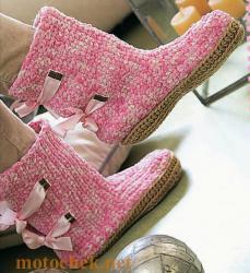 схемы вязания носков